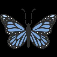 Autocollant Papillon Bleu
