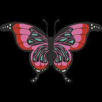 Autocollant Papillon Rouge