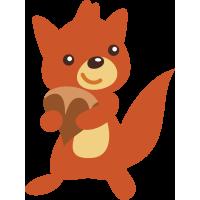 Autocollant Animaux écureuil