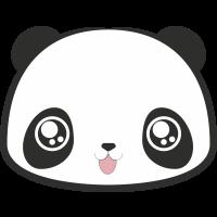 Autocollant Smiley Panda Heureux