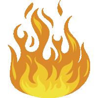 Autocollant Flamme 6 1