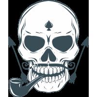 Autocollant Pirate Skull Pipe