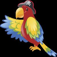 Autocollant Pirate Perroquet
