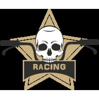 Autocollant Racing Skull