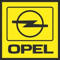 Autocollant Opel Carré