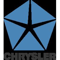 Autocollant Chrysler Logo Bleu