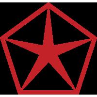Autocollant Chrysler  Logo Rouge
