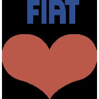 Autocollant Fiat Cœur