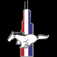 Autocollant Mustang Logo