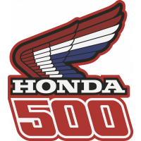 Autocollant Honda Moto 500 Gauche