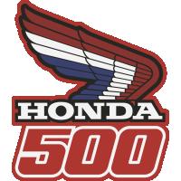 Autocollant Honda Moto 500 Droite
