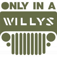 Autocollant Jeep Willys Only