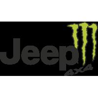 Autocollant Jeep 4x4 Monster