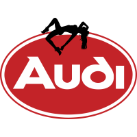 Autocollant Sexy Logo Audi
