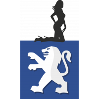 Autocollant Sexy Logo Peugeot