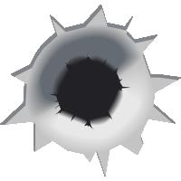 Autocollant Bullet Holes
