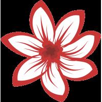Autocollant Fleur Rouge