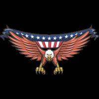 Autocollant Aigle Drapeau Américain