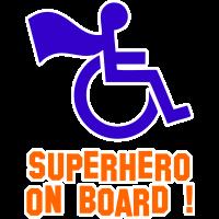 Autocollant Handicapé Superhero