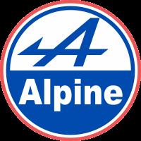 Autocollant Alpine Retro