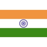 Autocollant Drapeau Inde 1