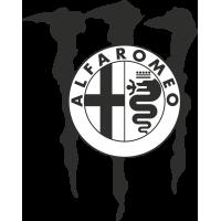 Autocollant Alfa Romeo Monster