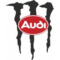 Autocollant Audi Monster