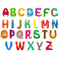 Autocollant Alphabet Monstre Pack Enfant