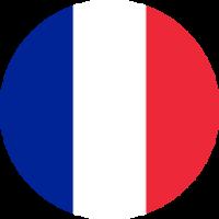 Autocollant Drapeau français rond