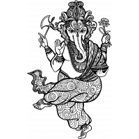 Autocollant Zen Ganesh 2