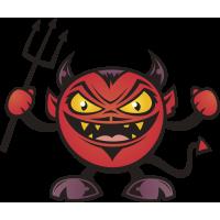 Autocollant Diable 1