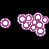Autocollant Cercle Moderne Violet