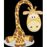 Autocollant Mignon Girafe