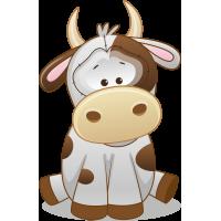 Autocollant Mignon Vache