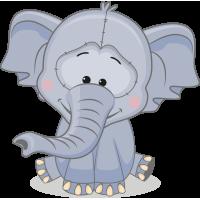 Autocollant Mignon Elephant