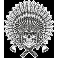 Autocollant Indien Skull 6