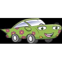 Autocollant Voiture Enfant Fleurs