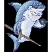 Autocollant Mascotte Requin Billard