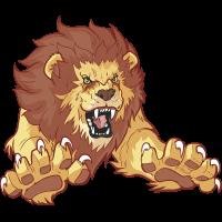 Autocollant Mascotte Lion