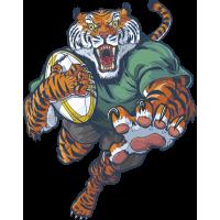 Autocollant Mascotte Tigre Rugby