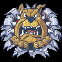 Autocollant Mascotte Bulldog 2