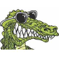 Autocollant Crocodile
