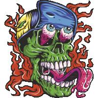 Autocollant Zombie 10
