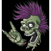 Autocollant Zombie Punk