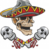 Autocollant Zombie Mexico