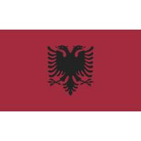 Autocollant Drapeau Albanie