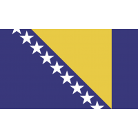 Autocollant Drapeau Bosnie