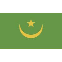 Autocollant Drapeau Mauritanie