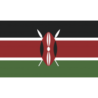Autocollant Drapeau Kenya