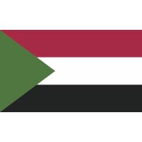 Autocollant Drapeau Soudan